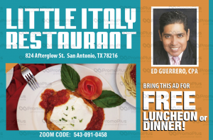 Tax Strategies for Tax Savings @ Little Italy Restaurant | San Antonio | Texas | United States